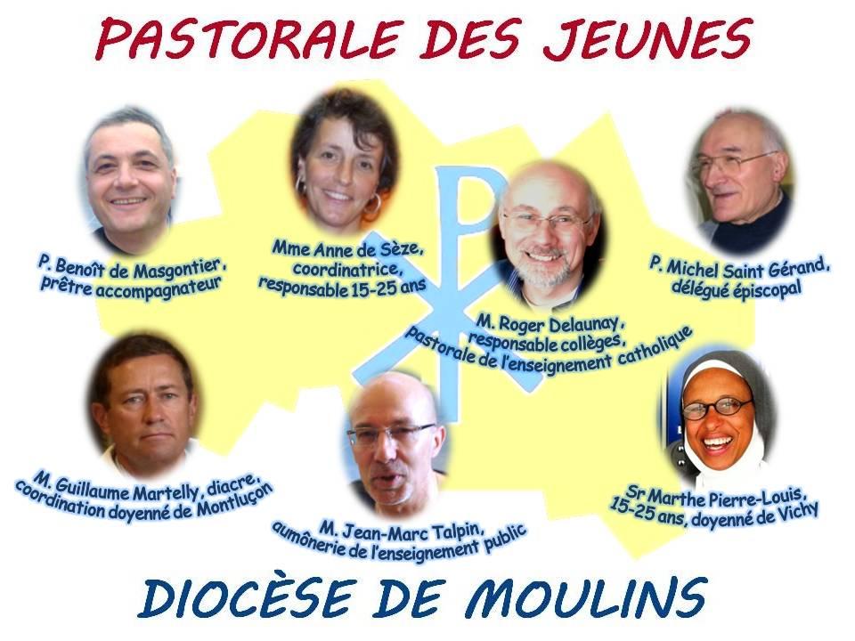 Les membres du service Pastoral des Jeunes