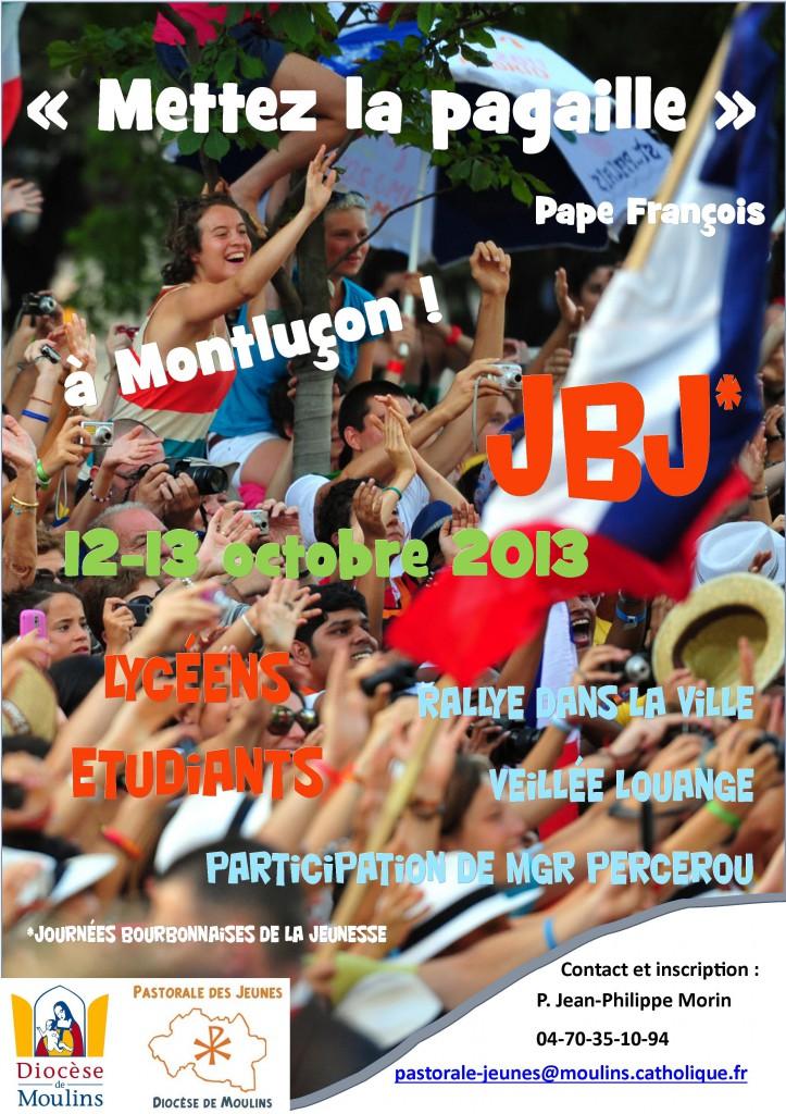Affiche JBJ 12-13 octobre 2013