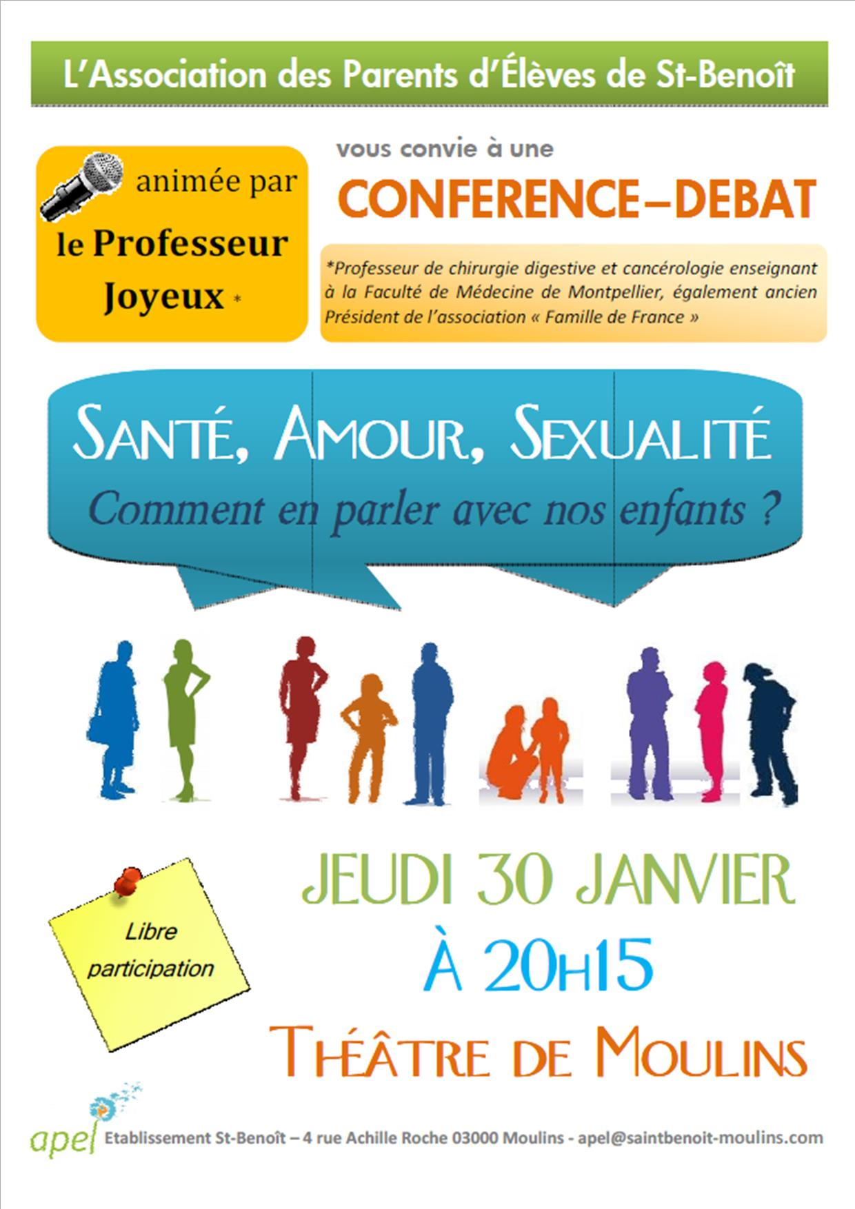 Conférence du Professeur Joyeux à Moulins