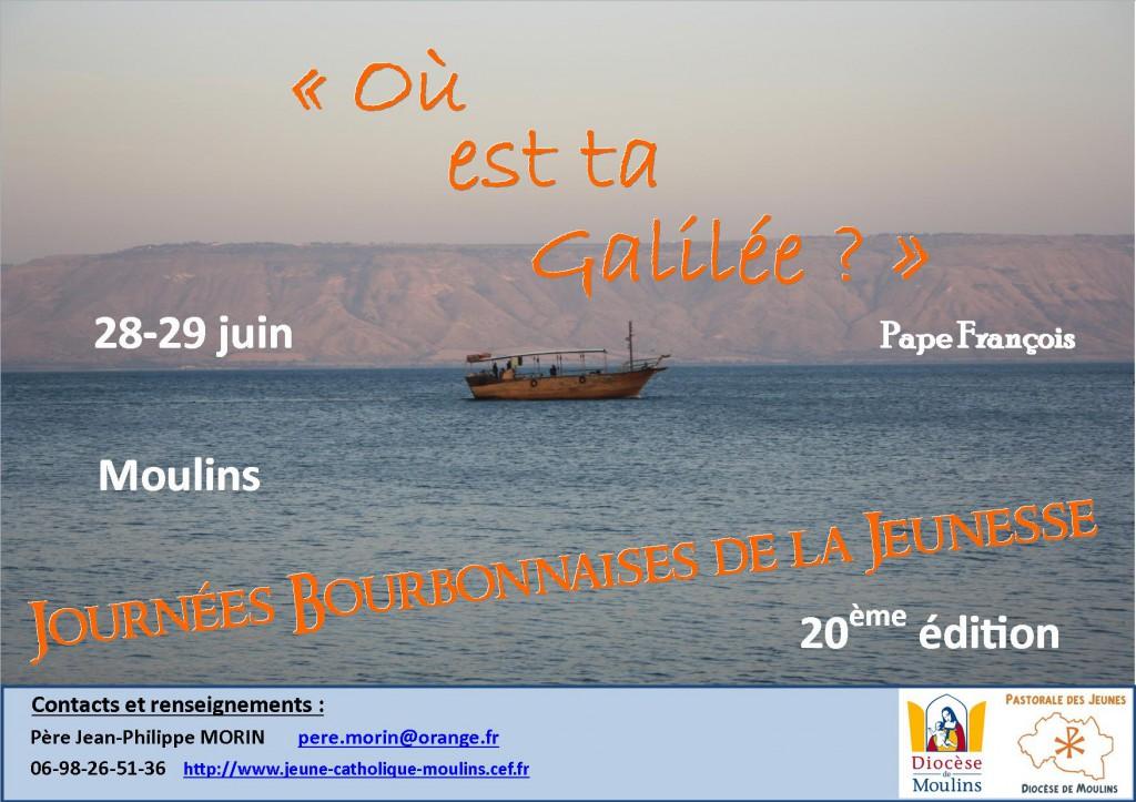 Affiche JBJ juin 2014 - Tibériade