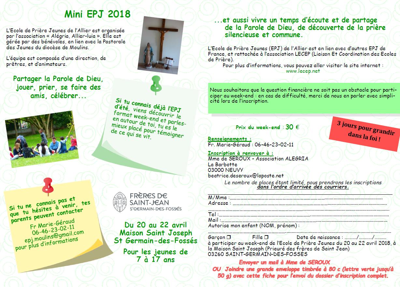 mini EPJ diocèse de Moulins - Pastorale des jeunes du diocèse de l ... beefe5c9172e