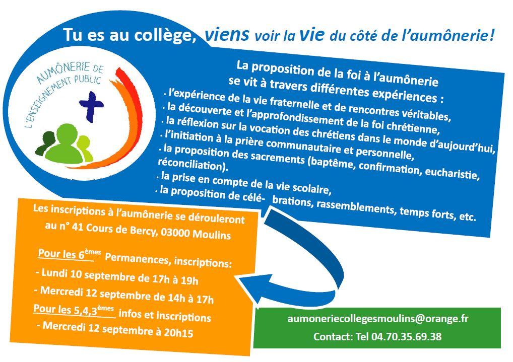 Aumônerie des collèges de Moulins-Yzeure