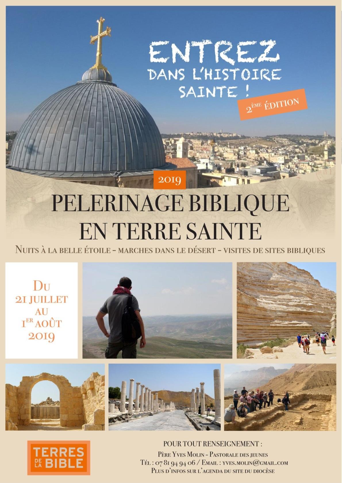 Pèlerinage en Terre Sainte organisé par le Père Yves MOLIN pour les jeunes du diocèse de Moulins