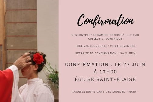 Confirmations Vichy