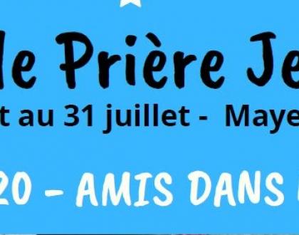 CET ETE : EPJ = Ecole de Prière Jeunes