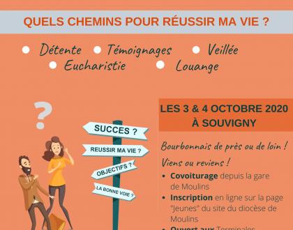 Mgr invite les teminales, étudiants et Jeunes Pros les 3 & 4 octobre à Souvigny