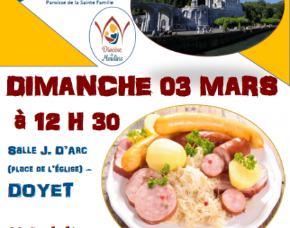 Les jeunes de l'aumônerie des paroisses du Bon Pasteur et de la Sainte Famille vous invitent