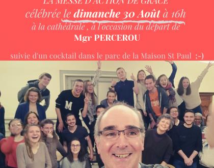 Messe d'action de grâce le 30 août autour de Mgr Percerou